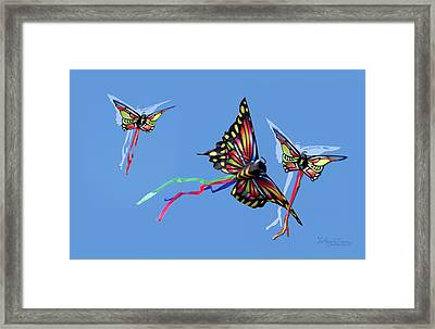 Even Butterflies Have Guardian Angels Framed Print by Anthony R Socci