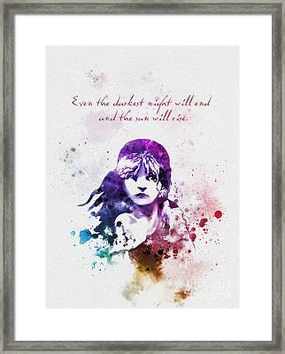 Even The Darkest Night Will End Framed Print by Rebecca Jenkins