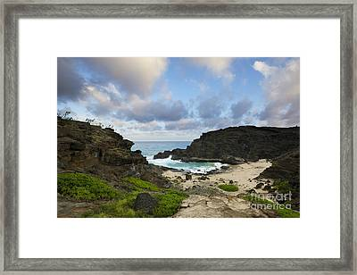 Evening At Halona Cove - Oahu Framed Print by Charmian Vistaunet
