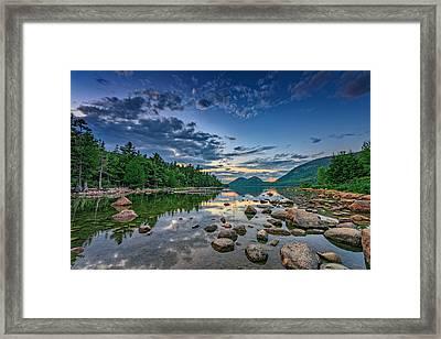Evening At Jordan Pond Framed Print by Rick Berk
