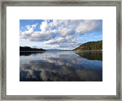 Evening At Priest Lake 2 Framed Print by Feva  Fotos