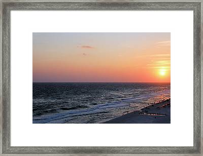 Evening At The Beach Framed Print by Theresa Campbell