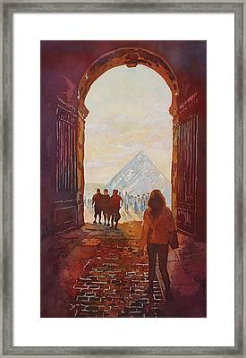Evening At The Louvre Framed Print by Jenny Armitage