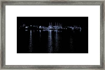 Evening At The Wharf Framed Print by Greg Thiemeyer