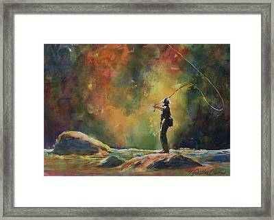 Evening Cast Framed Print by Therese Fowler-Bailey