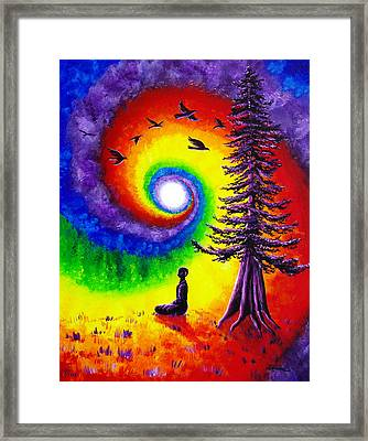 Evening Chakra Meditation Framed Print by Laura Iverson
