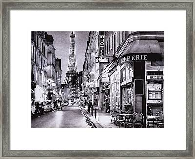 Evening In Paris Framed Print by Andrey Poletaev