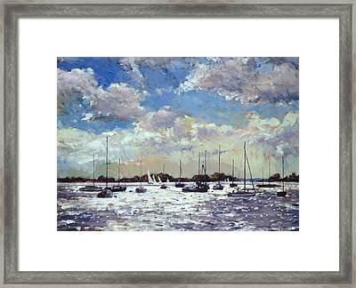 Evening Light - Gulf Of Morbihan Framed Print by Christopher Glanville