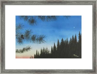 Evening Framed Print by Martin Bellmann