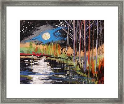 Evening Near The Pond Framed Print by John Williams