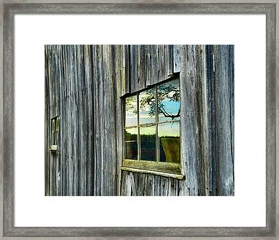 Evening Out At The Barn Framed Print by Julie Dant