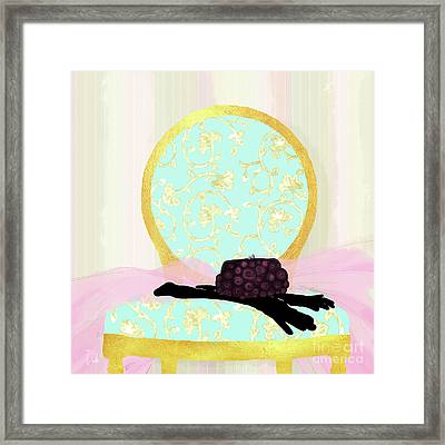 Evening Out In Gold, Fashion, Home Framed Print by Tina Lavoie
