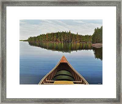 Evening Paddle II Framed Print by Kenneth M  Kirsch