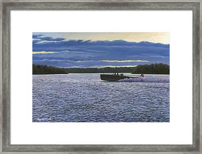 Evening Run Framed Print by Richard De Wolfe