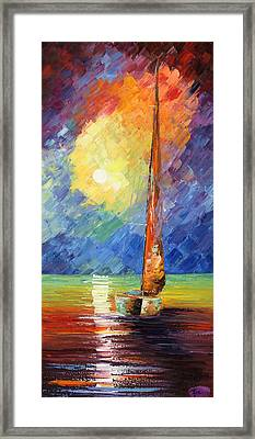 Evening Sail Framed Print by Ash Hussein