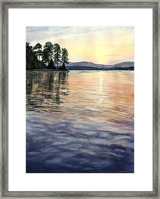 Evening Shades Framed Print by Lane Owen