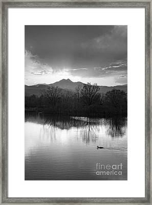 Evening Sky Bw Framed Print by James BO  Insogna