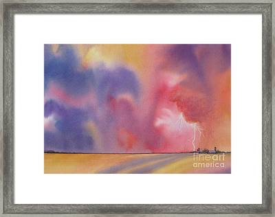 Evening Storm Framed Print by Deborah Ronglien