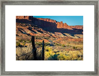Evening Sun At Capitol Reef N.p Framed Print by Michael J Bauer