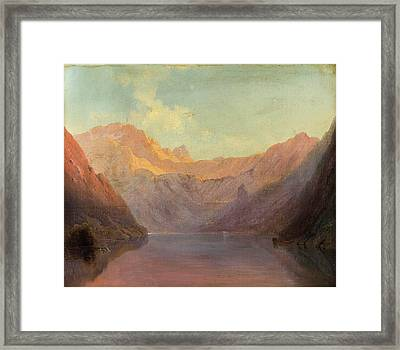 Evening Sun Over The Konigsse Framed Print by Josef Mayburger