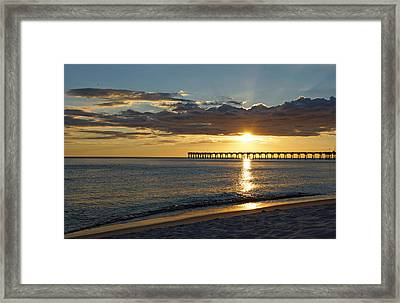 Evening Sunlight Framed Print by Sandy Keeton