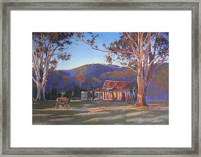 Evening Tapestry Dyers Crossing Framed Print by Louise Green