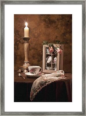 Evening Tea Still Life Framed Print by Tom Mc Nemar