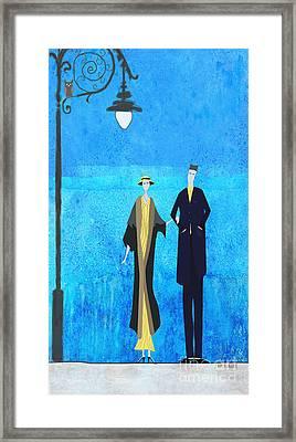 Evening Walk Framed Print by J Ripley Fagence