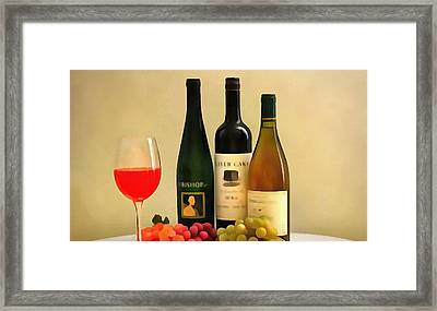 Evening Wine Display Framed Print by Dan Sproul