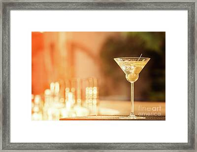 Evening With Martini Framed Print by Ekaterina Molchanova