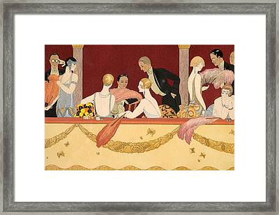 Eventails Framed Print by Georges Barbier