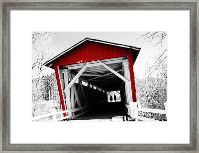 Everett Bridge Framed Print by Rachel Barrett