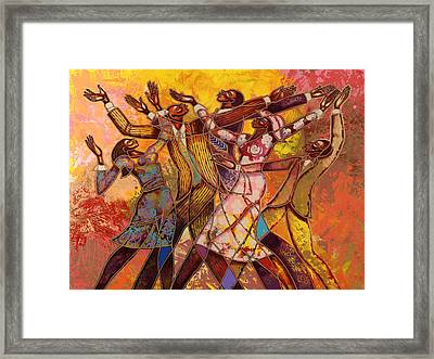 Every Round Goes Higher Framed Print by Larry Poncho Brown