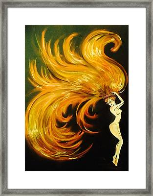 Everything Is Burning Framed Print by Summer Porter