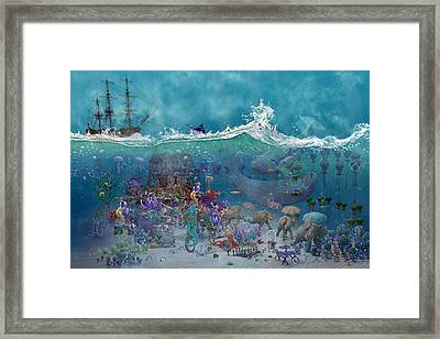 Everything Under The Sea Framed Print by Betsy Knapp