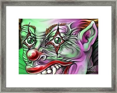 Evil Clown Eyes Framed Print by Michael Spano
