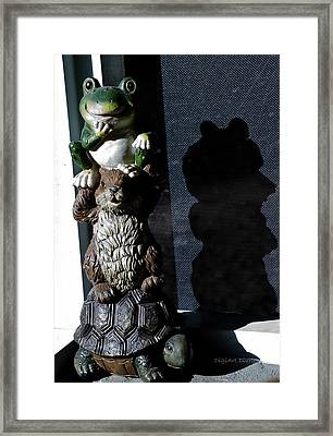 Evil Lurking In The Shadows Framed Print by DigiArt Diaries by Vicky B Fuller