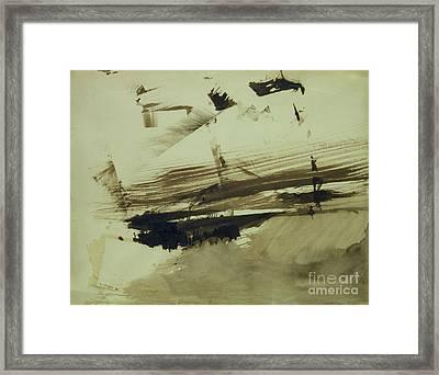 Evocation Of An Island Framed Print by Victor Hugo