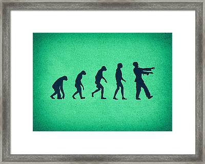 Evolution Of Zombies Zombie Walking Dead Framed Print by Philipp Rietz