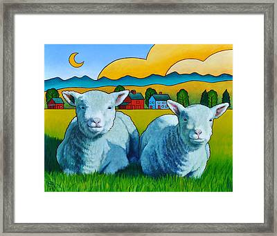 Ewe Two Framed Print by Stacey Neumiller
