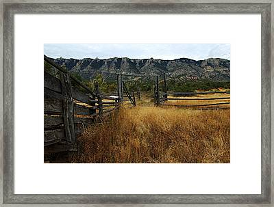 Ewing-snell Ranch 1 Framed Print by Larry Ricker