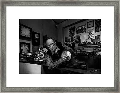 Exact Time.... Framed Print by Antonio Grambone