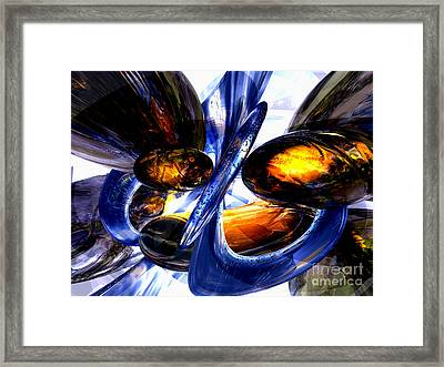 Exalted Glow Abstract Framed Print by Alexander Butler