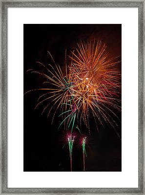 Exciting Fireworks Framed Print by Garry Gay