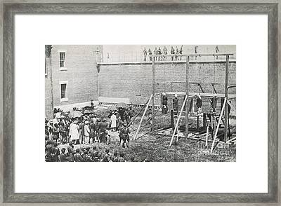 Execution Of The Booth Conspirators Framed Print by Photo Researchers