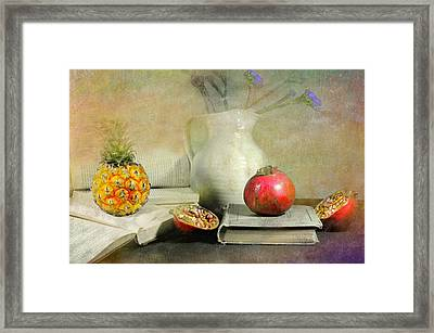The Bookeeper Framed Print by Diana Angstadt