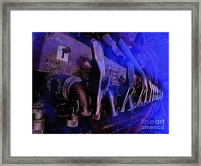 Exhaust And Oil Spickets Framed Print by The Stone Age