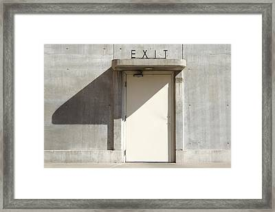 Exit Framed Print by Mike McGlothlen
