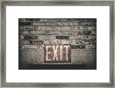 Exit Framed Print by Scott Norris