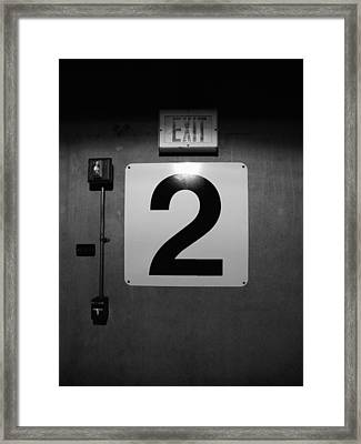 Exit Two Framed Print by Bob Orsillo